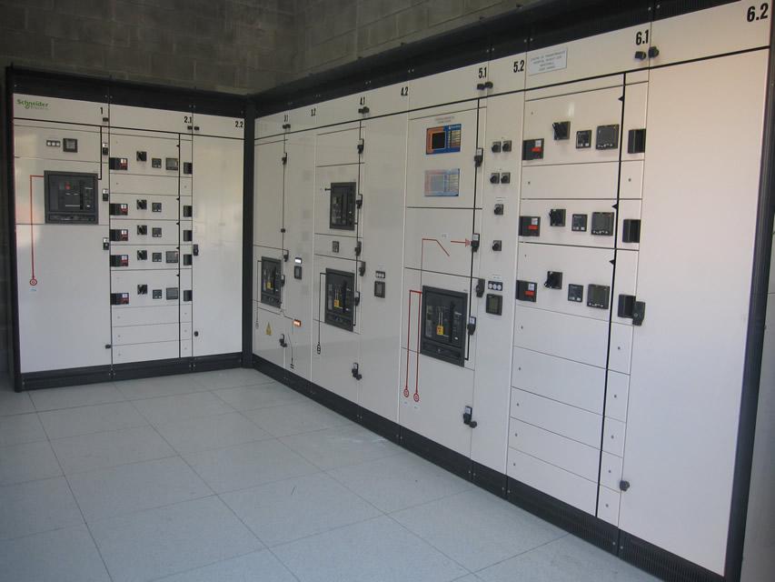 detalle estación transformadora grupo electrógenos